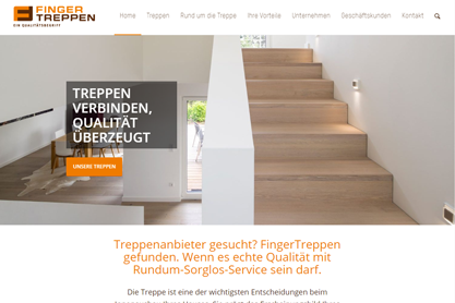 Referenz Website Finger Treppen