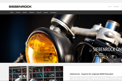 Referenz Websites: Neuer Shop Siebenrock 2020